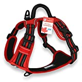 Dog Harness with Front Clip, No Pull Reflective Adjustable Dog Harness with Handle