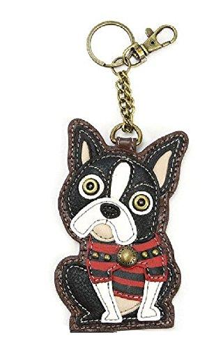 Chala Boston Terrier - Llavero de perro con diseño de perro