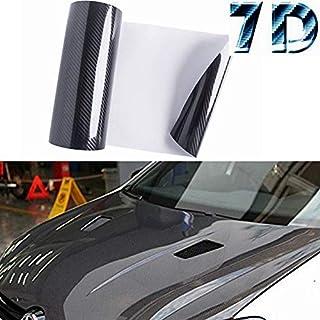 M J-AUTOPARTS 7D Premium High Gloss Carbon Fiber Vinyl...
