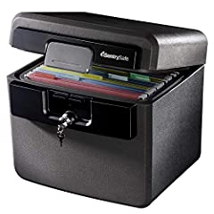 Fireproof box is UL Classified to endure 1/2 hour at 1550°F to protect irreplaceable documents, small valuables, DVDs, and USBs from fire Waterproof box is ETL Verified for 72 hours of water submersion offering peace of mind in the event of a flood F...