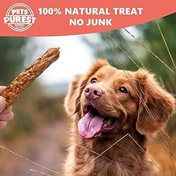 Pets Purest 100% Naturel mastiquer Friandises Saucisse séchée à l'air pour Les Chiens. Deux ingrédients. Grains, sans Gluten et sans Lactose. Sain Raw Dog Treat pour Chien Chiot Adulte Senior (200g)