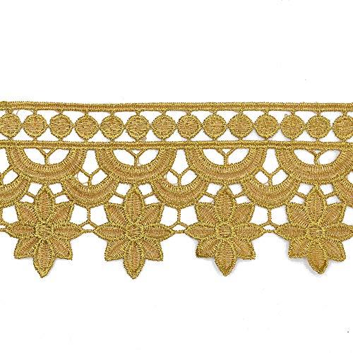TR-11901 Spitzenbesatz, 7,6 cm, metallic-goldfarben 3