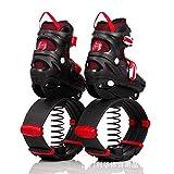 N\C Bounce Shoes Fitness Ejercicio para niños y adolescentes Botas antigravedad rebote, para uso en interiores y exteriores, tamaño mediano M/rojo zapatos de rebote