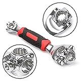 Rojwei Llave de vaso multifunción de tigre, 48 en 1, ideal para montaje de muebles, hogar y reparación automática (llave de casco)
