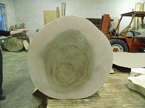 Baumscheibe, Holzscheibe,ca. 55 x 10 cm, Tischplatte, Esche, geschliffen