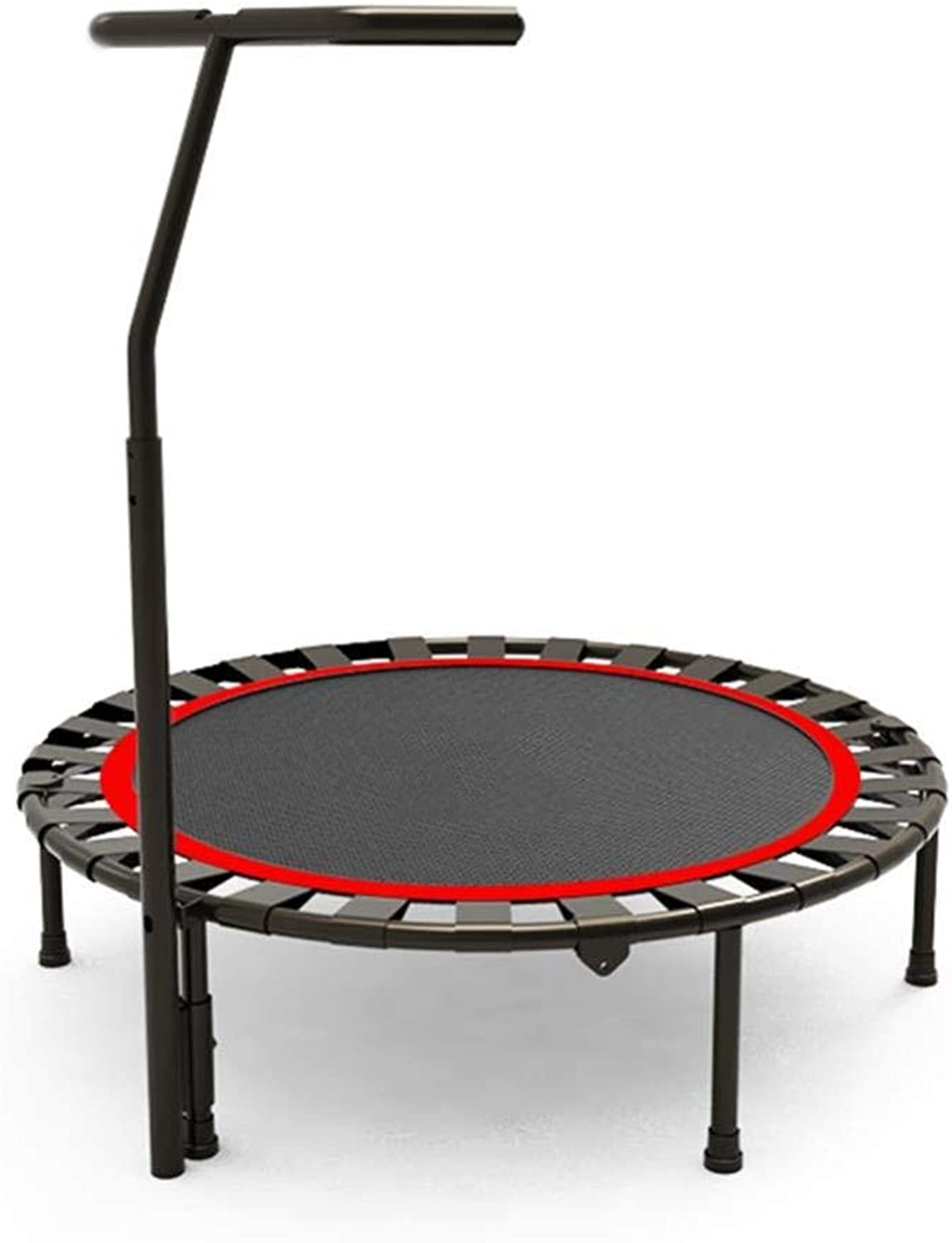 ZJW Trampoline Folding 40 Inches with Adjustable Handrail, Portable Jogging Fitness Adults and Kids Excercise Equipment,A,Trampoline
