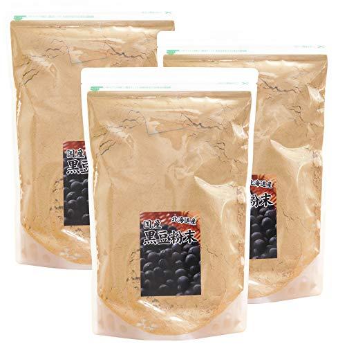 自然健康社 北海道産・黒豆粉末 1kg×3個 チャック付き袋入り