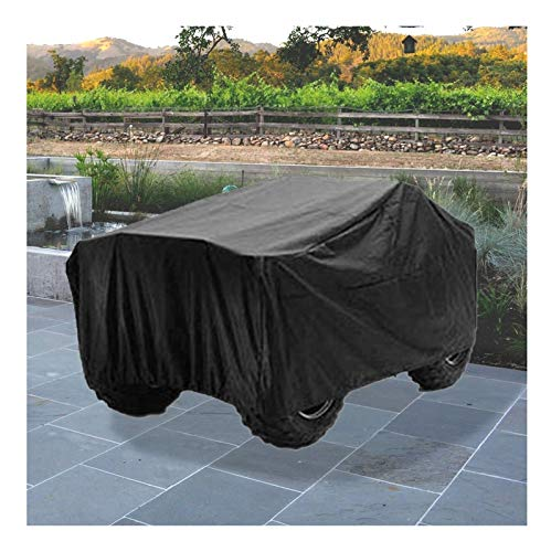 SS WANGZI Waterproof ATV Cover,Mobility Scooter Cover, 210D Oxford Heavy Duty Waterproof 4 Wheel Power Scooter Travel Storage Cover Dust Sun Wind Proof for Honda/Polaris/Yamaha/Suzuki, Black