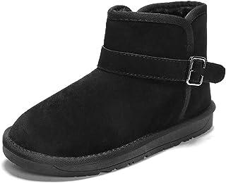 JIANFEI LIANG Men and Wonmen Fashionable Snow Boots Casual Antirust Metal Buttons Winter Faux Fleece Inside Home Shoes Work or Casual Wear (Color : Gray, Size : 42 EU)