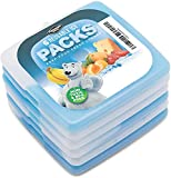 Dynamic Gear Reusable Ice Pack (6 Pack) for Lunch Box - Slim, Lightweight Freezer Cold Packs for Coolers, Lunch Boxes & Camping