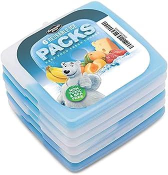Dynamic Gear Lot de Blocs réfrigérants pour Sac Isotherme ou glacière, Mini Pains de Glace Lot de 6 sotherme Glacières pour Le Camping, la Plage, Les Pique-niques, la pêche