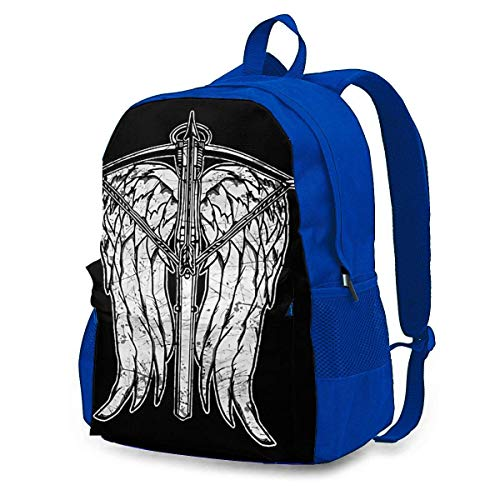FGHJY CHENWE Angel Wings und Armbrust Adult Classic Backpack Outdoor Freizeitrucksack Studententasche