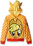 My Little Pony Girls' Little Apple Jack Costume Zip-up Hoodie, Orange/Yellow, 5/6