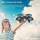 yummyfood Mini Drone per Bambini, quadricottero Nano Tascabile Pieghevole RC con Auto Drone quadricottero Tascabile RC Drone con Mantenimento dell'altitudine e modalità Senza Testa