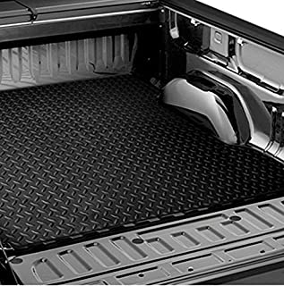 R&L Racing Black Rubber Diamond Truck Bed Trunk Floor Mat Carpet 1999-2007 for Chevy Silverado/Sierra 6.5'