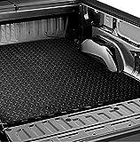 R&L Racing Black Rubber Diamond Plate Truck Bed Trunk Floor Mat Carpet 05-17 Tacoma 6 Ft Long