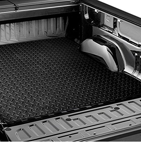 HS Power Black Rubber Diamond Truck Bed Trunk Floor Mat Carpet 04-12 for Colorado/Canyon 5'/60'