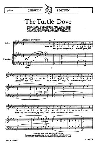Ralph Vaughan Williams: The Turtle Dove Chorale Partitions