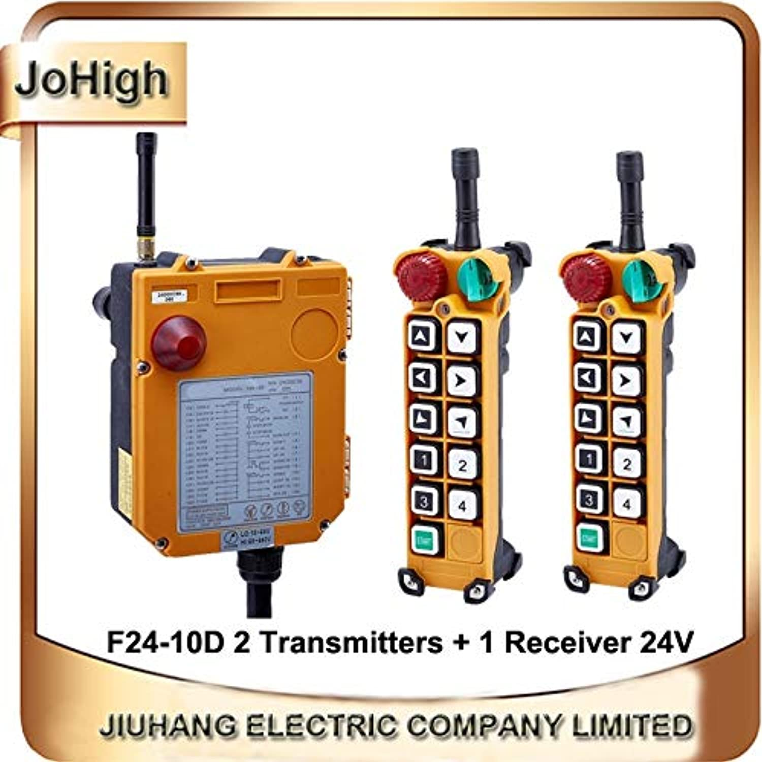 F2410D Double Speed Crane Remote Controller Switch 10 Channels Keys Direction 2 transmitters + 1 Receiver  (Voltage  220V)