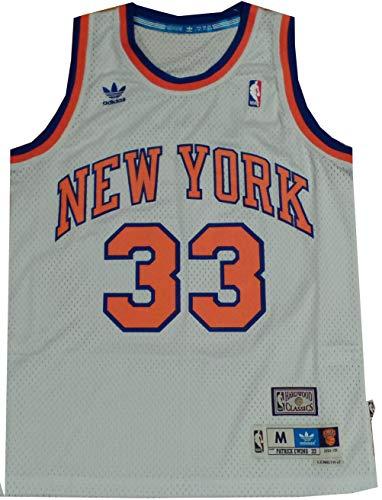 adidas New York Knicks Patrick Ewing White Jersey (Small)