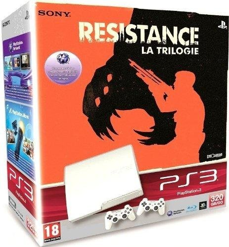 Console PS3 320 Go blanche + Resistance Trilogy