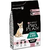 PRO PLAN Small & Mini Adult Sensitive Skin avec OPTIDERMA Riche en Saumon - 3 KG - Croquettes pour...