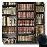 Jamron Mousepad OblongOld Medieval Rome Italia 18 de julio Estantes Biblioteca anticuaria Estante de educación Novela histórica Libro Antideslizante Goma Mouse Pad Alfombrilla de oficina Ordenador por