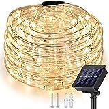 Nurkoo Solar Lichterschlauch 10m 100er LED Lichter mit 8 Modi Innen und Außen Lichterkette...