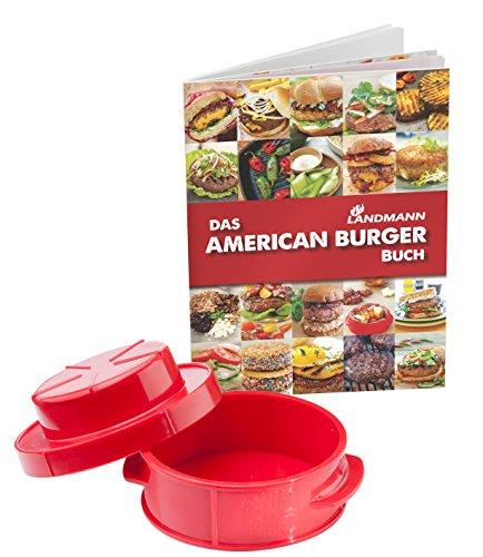 Landmann American Burger Set mit Rezeptbuch Selection, schwarz/rot