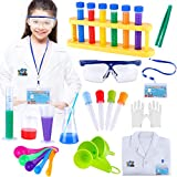 Kids Science Experiment Kit with Lab Coat, Scientist Costume Dress Up and Role Play Toys - Gift for Boys Girls Kids For Christmas Birthday Party