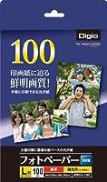 (業務用セット) フォトペーパー/光沢紙/L判/100枚 超厚手・強光沢 JPEC-L-100【×5セット】