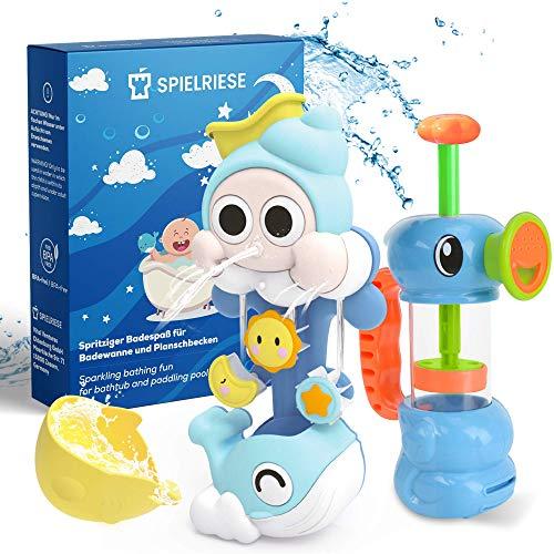 SPIELRIESE Badewannenspielzeug Badewanne Spielzeug Kinder - BPA frei - Badespielzeug Baby ab 1 Jahr - Badespass für Kinder Badewanne Badespielzeug Baby ab 1 Jahr