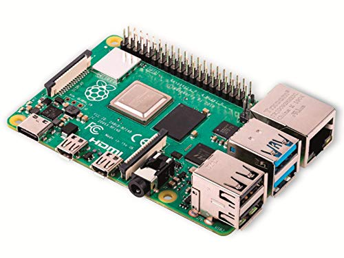 Raspberry Pi 4 Modell B; 4 GB, ARM-Cortex-A72 4 x, 1,50 GHz, 4 GB RAM, WLAN-ac, Bluetooth 5, LAN, 4 x USB, 2 x Micro-HDMI