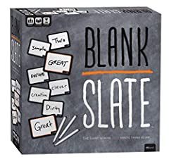 The game where _______ minds think alike! Prepare yourself for Blank Slate, a game of addicting predictions! Pick a Word Cue card, write the word you think best completes the phrase, and try to match it to anther player's word without giving a single...