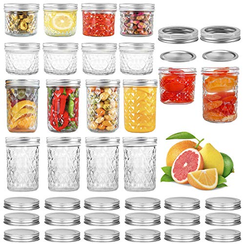 16 Pack Jelly Jars w/ Lids