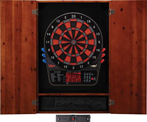 Viper Metropolitan Solid Wood Cabinet & Electronic Dartboard Ready-to-Play...