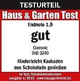 Edelstahl Schokoladen-Brunnen Schoko-Brunnen Fontäne Elektrisch Käse Frucht-Soße Barbecue-Soße (Sparsame 170 Watt, 500 g Schokolade, 750 g Kuvertüre) - 5