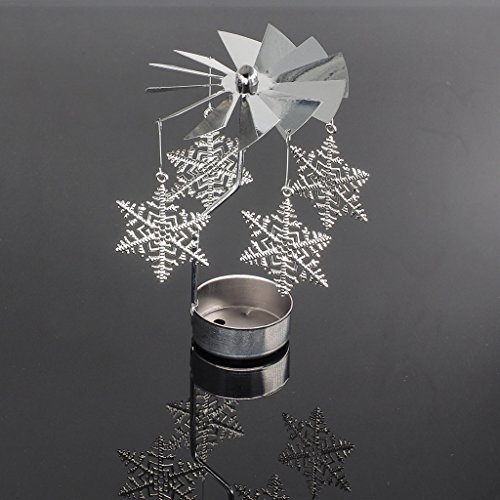 Manyo Metalldreh Kerzenhalter-Teelichthalter, 5 Formen für die Wahl, 8x13cm, 1 Stück, Home/WeddingDecor & Geschenk. (01 Schneeflocke)