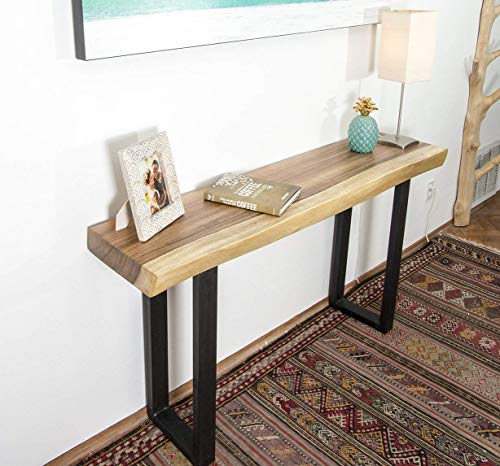 Live Edge Wood Slab Console Table