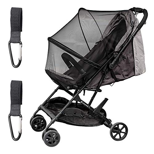 Joyooss Stroller Mosquito Net, Baby Mosquito Net, Large Size Netting with Stroller Hook - Black