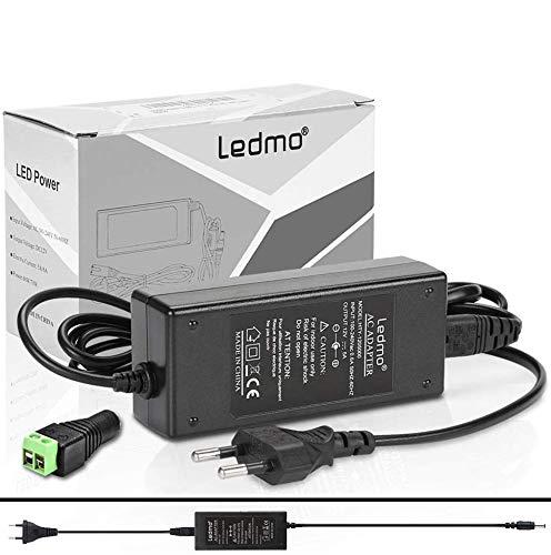 LEDMO Alimentatore 12V 5A Trasformatore 60W, Utilizzato per Spina di alimentazione per notebook, striscia LED, schermo TFT-LCD, Radio, NAS, HD esterno, router, hub, switch, ecc.