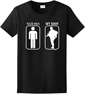 ThisWear Your Man My Man Ladies T-Shirt