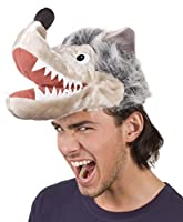 When this wolf coughs and blows, it is probably no house will collapse This hat represents a wolf head with torn snout and fluffy grey hair This headpiece is also a great idea for a group costume The hat is perfect for individual costume design More ...