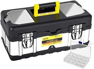 YIN YIN - Caja de almacenamiento de herramientas de acero inoxidable for el hogar caja de almacenamiento de piezas de dobl...