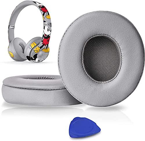 SoloWIT Cuscinetti Auricolari Di Ricambio per Beats Solo 2 e Solo 3 Wireless On-Ear Cuffia con morbida pelle proteina/memory foam/nastro adesivo forte