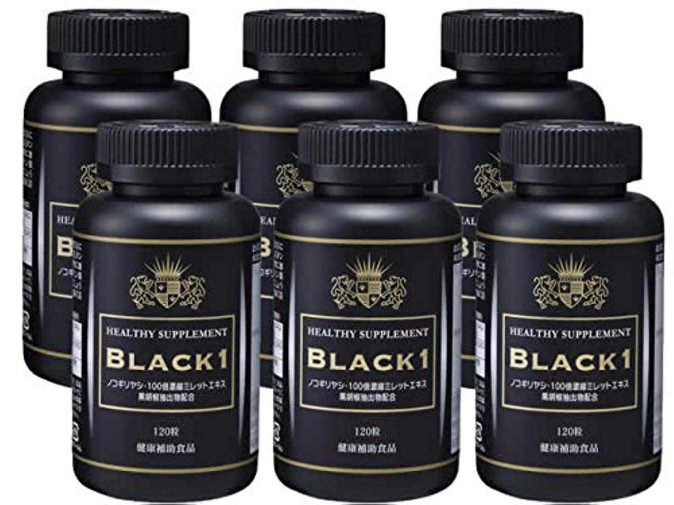 変更入るファシズムノコギリヤシ ミレット 亜鉛 ビオチン 必須アミノ酸 ビタミン配合 サプリメント ブラックワン 6個セット