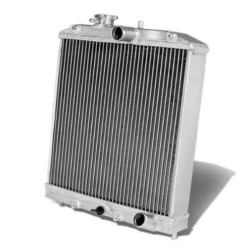 For Honda D15/16/B18 1.5L/1.6L/1.8L I4 MT 60mm 3-Row Tri Core T-6061 Aluminum Radiator