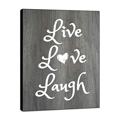 """LACOFFIO Live Love Laugh Wall Decor House Warming Gifts - 9""""x 12' Home Decor Perfect for Kitchen and Living Room - Inspirational and Motivational Quotes Wall Art"""