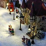 Gärtner Pötschke Miniatur-Weihnachtsdorf LED-Straßenlaternen Colonia