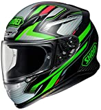 Shoei NXR Stab - Casco de moto (talla XL), color gris y negro y verde (TC-4)